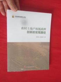农村土地产权抵质押创新的实现路径      【小16开】未开封