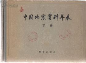 中国地震资料年表 下册
