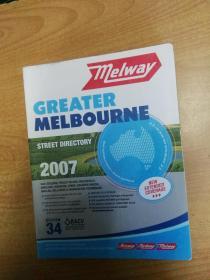 Melway Greater Melbourne 墨尔本地图 大16开本厚册