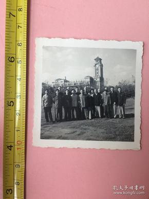 照片,1961年,上海人民公园合影,知识分子