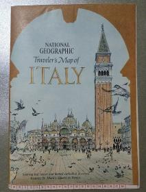 National Geographic国家地理杂志地图系列之1970年6月 A Travellers Map of Italy 意大利旅行地图