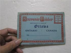 约六七十年代  ONTARIO-CANADA  CONTAING 18 VIEWSOF(加拿大安大略省的纪念品 包含18个视图 )折叠双面类明信片画片