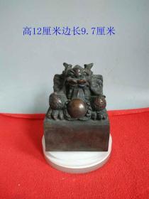 清代雕工精致的老紫铜龙印章