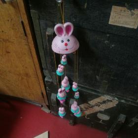 兔爷的组合,一大,五中,五小,共十一只兔爷,