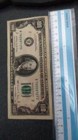 美元样张 100元 如图