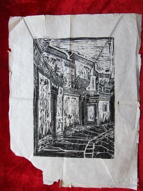 老木版画(尺寸:54厘米.41厘米)
