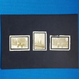 民国六和塔合影三张照片