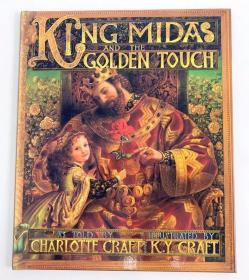精装 插画复古华丽 King Midas and the Golden Touch