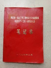 1973年工业先进集体代表大会笔记本