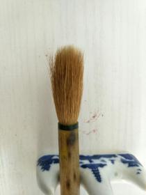 老毛笔,红双喜牌,大兰竹,泪斑竹杆,善联含山湖笔厂,尺寸27.5X3.X1.5。