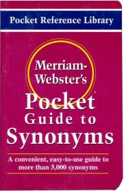 MerriamWebster's Pocket Guide to Synonyms