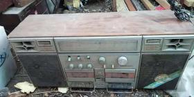 南虹牌NH5305型台式双盒式立体声收录两用机  (机器非常大品好)