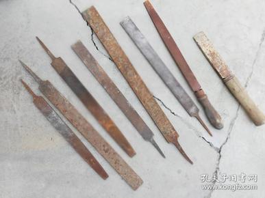 工具;铁搓大小8件其中一件有木柄