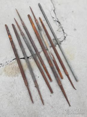 工具;铁搓{圆的}大小8件