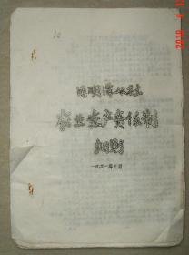 常德  汉寿县  月明潭  农业生产责任制细则  共15页