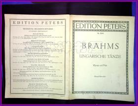 乐谱 Nr.  PETERS EDITION BRAHMS  UNGARISCHE TANZE