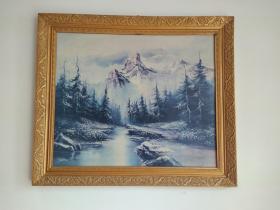 木板装饰画《山水》