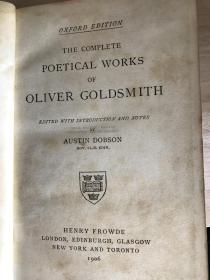 1906 THE COMPLETE POETICAL WORKS OF OLIVER GOLDSMITH 插图本 19*13cm