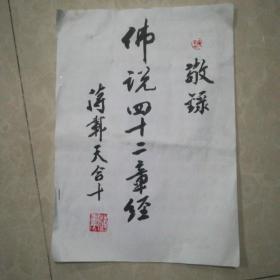 苏州著名书法家蒋载天硬笔手抄《佛说四十二章经》