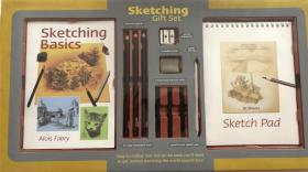 鐩掕 sketching gift set 甯︾瑪绱犳弿涔�