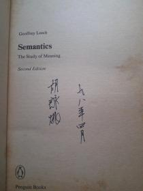 SEMANTICS:The Study of Meaning (Second Edition)