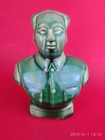 文革精品罕见的河南彩瓷 主席半身像