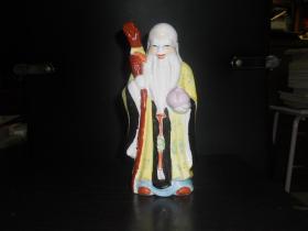 陶瓷寿星(高约19公分)
