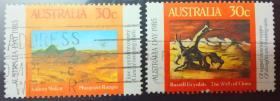澳大利亚信销邮票 1984年 澳大利亚日 2全,一套