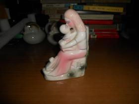 母与子小花瓶小摆件(尺寸约:11*9*4公分)