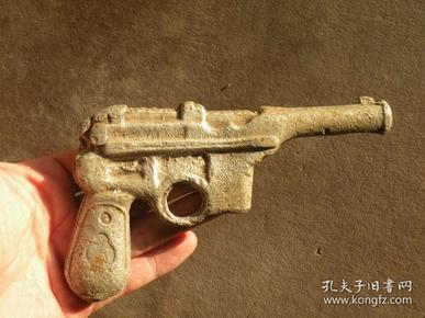 560年代 铝制实心手枪玩具 怀旧老玩具