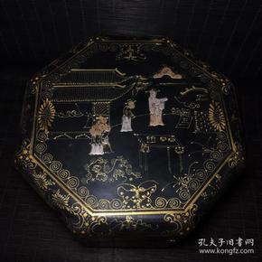 漆器人物八角食盒
