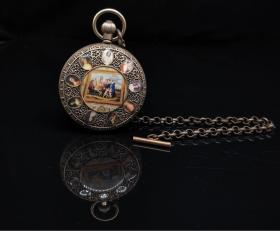 鎏银机械怀表(能正常使用,长期有货),重量159g代理转图可以加价,运费自理。