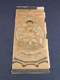 清初彩繪佛畫《阿彌陀佛如來佛祖像》