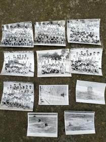 七八十年代少年游泳队照片11张合售