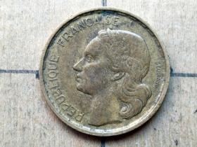 015 外国硬币:1951年【法国硬币】10法郎 世界外国硬币古玩收藏保真品包老