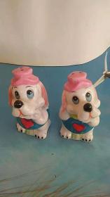 瓷器 两只小狗 老摆件