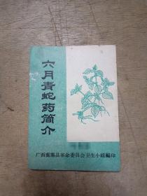 六月青蛇药简介