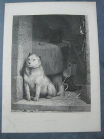 1849年 钢版画 手工雕刻 凹印版画《LOW LIFE》