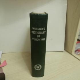 WEBSTER `S DICTIONARY OF SYNONYMS (16开硬精装,英文原版,907页)