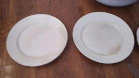 老盘子 绷瓷了  一对 瓷器 日本