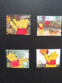 日本邮票·14年小熊维尼4信