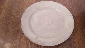 老盘子 绷瓷了  一个 瓷器 日本