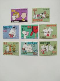 日本邮票·卡通史努比8信