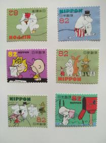 日本邮票·卡通史努比6信