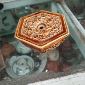 六角花插瓷