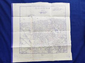 老地图文革地图--温州市中心(彳甲)图  规格39.5x39.5 附语录