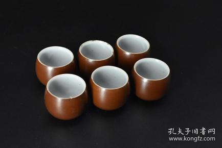 (P3271) 功夫茶杯套装六只装 。直径5.7cm 高4.8cm