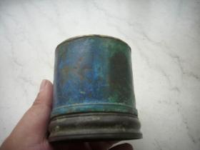 出土-清黄铜【大烟灯】!高7.5厘米,直径7.5厘米