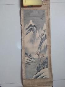 【重山积雪.一九七五年 手绘:王金海】