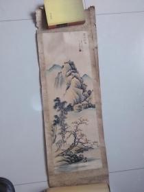 【溪山秋色.一九七五年二月 手绘:王金海】